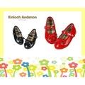 【Kinloch Anderson 金安德森】女童鏡面蝴蝶結娃娃鞋 (活力紅)