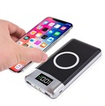 30000mah Power Bank External Battery Bank Built-in Wireless Charger Powerbank Portable QI Wireless C