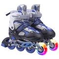 溜冰鞋兒童男女全套裝閃光輪可調學生旱冰鞋輪滑鞋成人直排輪N17 Dudubobo