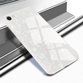 Luxury Tempered Glass Case for VIVO Y71 Hard Back Shell Soft TPU Bumper Phone Case for VIVO Y71 Cover
