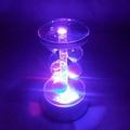 創意LED七彩插電款水晶燈底座琉璃水晶工藝品擺件專用七彩燈座