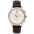 SEIKO 耀眼尊爵風大日期窗男性皮帶款手錶(SPC087P1)-銀色/42mm