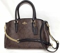 Coach Signature Mini Sage Carryall Crossbody Bag Brown/Black