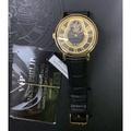 派克菲利浦parker philip黃金律動機械錶  (真空電鍍黃K金)、鍍藍膜礦石玻璃鏡片