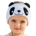 Firik Kids Headphones - Easy Adjustable Kids Costume Headband Silky Headphones for Children, Perfect for Travel and Home - Panda - intl