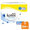 靠得住 純白體驗 衛生棉 淨味紫羅蘭 日用超薄 23cm (18片)x24包入/箱
