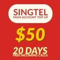 Singtel Prepaid eTop-Up $50 - $6.50 bonus credit