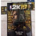 全新NBA2k19 Lebron James 海報+James本人手繪貼紙+手環一次帶走