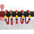 硃砂手珠(手鍊.佛珠) 8mm+蜜蠟配飾