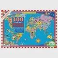 eeBoo 拼圖 — World Map 100 Piece Puzzle 世界地圖 (100片)