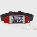 運動休閒手機觸屏腰包紅色