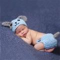 滿299發貨小狗 寶寶 嬰兒 攝影 二件 套裝 造型服