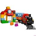 【幸運貓】樂高積木得寶系列火車入門套裝軌道10507德寶大顆粒兒童拼裝玩具