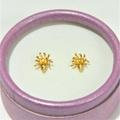 Gold 1314   22K 916 Pure Gold Stud Earrings   22K 916 纯金耳钉