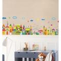 👼現貨~超取👼可愛彩色小屋🏠創意壁貼 可愛時尚 踢腳板 玻璃櫥窗 客廳 兒童房幼兒園教室裝飾貼🍄重複撕貼 PVC