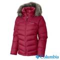 Columbia哥倫比亞-防潑羽絨連帽外套-女-紅色-USL40490RD
