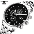Top Brand Luxury LIGE Men Military Sport Luminous Wristwatch Chronograph Leather Quartz Watch Relogio Masculino