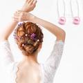 【kiret】日本 優雅系珍珠U型夾髮叉 超值10入-粉(髮插 髮叉 髮釵 髮飾 新娘 宴會 新秘必備)