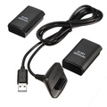2x4800mah Rechargeable Batteries + Charging Cable For Xbox 360 Wireless Wired Controller