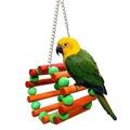 คริสต์มาสนกของเล่นไม้การฝึกอบรมของเล่นเคี้ยวนกแก้ว BIRD ของเล่นแบบแขวนนกแก้วของเล่น