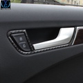 奧迪a4L A5 專用改裝 碳纖維內門碗拉手裝飾條 奧迪A4內飾裝飾