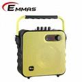 EMMAS 移動式藍芽喇叭/教學無線麥克風 (T-58) 黃色