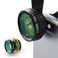 AUKEY 180 Degree Fisheye Lens + Wide Angle + Macro Lens 3in 1 Clip-on
