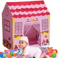 Girls Children Princess Pink Play House Outdoor Garden Tent Kids Toy