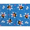 【米倉】布料「藍底雪花DORA朵拉」卡通印花布/布料.拼布.製包.布毯.床包.抱枕.手作創意