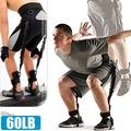 60磅LATEX乳膠彈跳訓練帶C109-1551(綁腿彈力繩+舉重腰帶)彈力帶拉力繩拉力帶拉力器.擴胸器腳踝美腿機臂力器