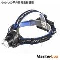 【MasterLuz】G03 戶外 T6 LED照明遠射頭燈(附鋰電池與充電器)