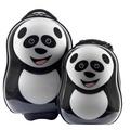 【英國cuties and pals】16吋蛋型輕硬殼兒童專屬旅行箱+13吋背包組(貓熊)
