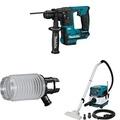 "Makita RH01Z 12V max CXT Brushless 5/8"" Rotary Hammer, 198362-9 Dust Extraction Cup, & XCV04Z 18V X2 LXT (36V) 2.1 Gallon HEPA Filter Dry Dust Extractor/Vacuum - intl"