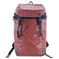 ISSEY MIYAKE 三宅一生BAOBAO幾何亮面翻蓋機能後背包(磚紅)