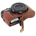 Vintage Leather Camera Case for Canon powershot G7XII / G7 X II / G7X MarkII / G7 X Mark II Camera Bag Cover