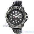 【錶飾精品】SEIKO 手錶 SRP723K1 精工5號 手自動機械 夜光 賽車 世界時間 鍍黑 皮帶 男錶