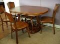 【尚品家具】※自運價※Q-631-04 胡桃柚木色法式實木餐椅化妝椅房間椅書桌椅