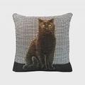 Art de Lys法國原裝 2161N黑色貓咪抱枕套50x50