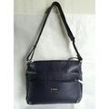 *牛皮包 全新Diana黛安娜 深紫色肩背包 雙面logo 2面背 手提包側背包 斜背包  展示包 特價