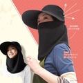 日本sunfamily)3way 抗UV臉罩式寬緣帽