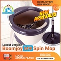 BOOMJOY M9 Pro 2018 New Magic Spin Flat Mop 360 and Bucket Set