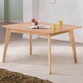 Homelike 雷迪5尺餐桌-原木色