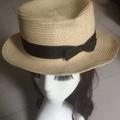 《 愛著衣飾 》配件 帽子 多色編織綁帶蝴蝶結草帽遮陽帽平頂帽
