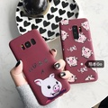 case Samsung新年可愛發財小豬三星S9+手機殼S8 plus軟殼note8卡通note9情侶殼