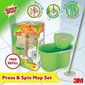 3M Scotch-Brite T4 Press and Spin Mop set with Refill