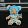 创意毛绒睡萌娃娃钥匙扣睡眠娃娃毛绒公仔钥匙挂件女生礼物钥匙链 紫熊 四肢可动睡萌娃娃挂件 蓝熊 四肢可动睡萌娃娃挂件