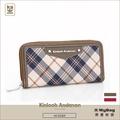 Kinloch Anderson 金安德森 皮夾 英式學院 經典格紋長夾 牛皮女夾 KA151204 得意時袋