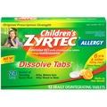 Zyrtec Childrens Allergy Dissolve Tablets, Citrus, 12 Count