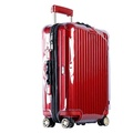 Luggage Cover Clear Protector Suitcase Holder with Red Zipper for RIMOWA Salsa Deluxe - intl
