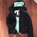 極度乾燥 Superdry Arctic Windcheater 三層拉鍊 風衣 連帽 防風外套 女夾克 黑薄荷綠